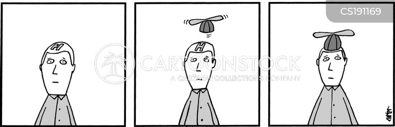 helicopter hats cartoon
