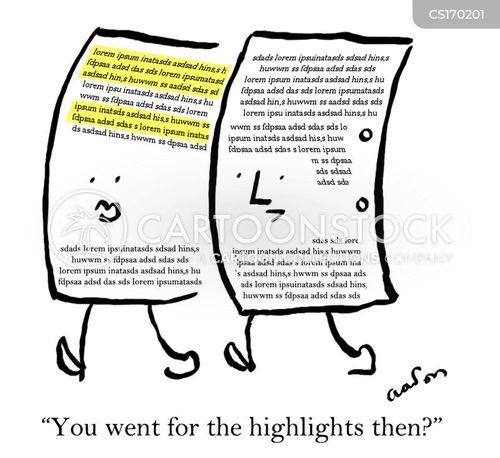 highlighter pen cartoon