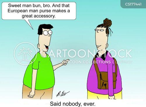 man buns cartoon