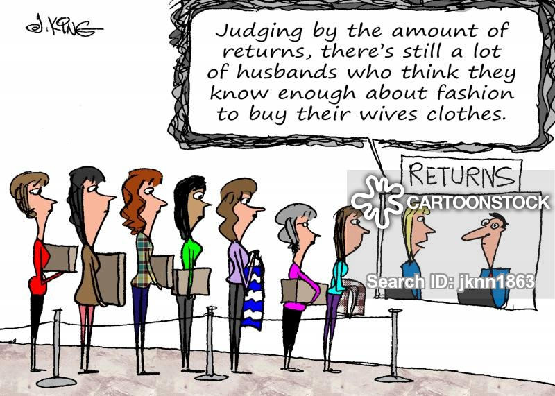 present buying cartoon