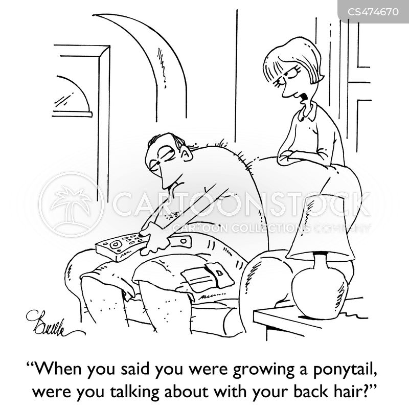 pony-tails cartoon