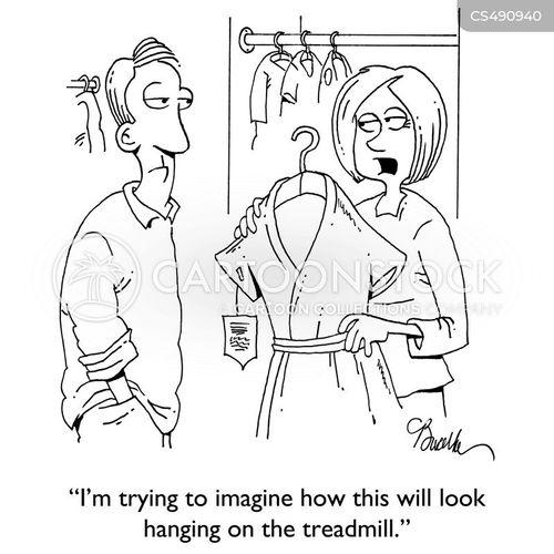 workout equipment cartoon