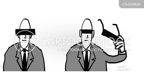 concealing cartoon