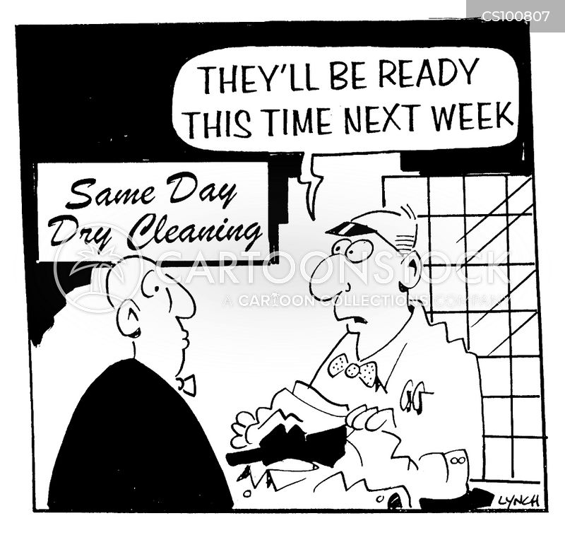 dry-cleaners cartoon