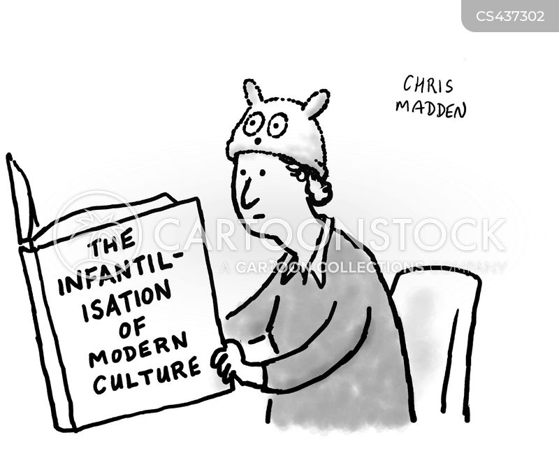 infantilise cartoon