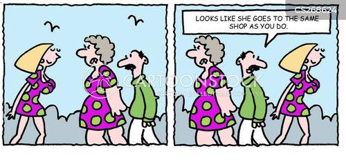 dress shop cartoon