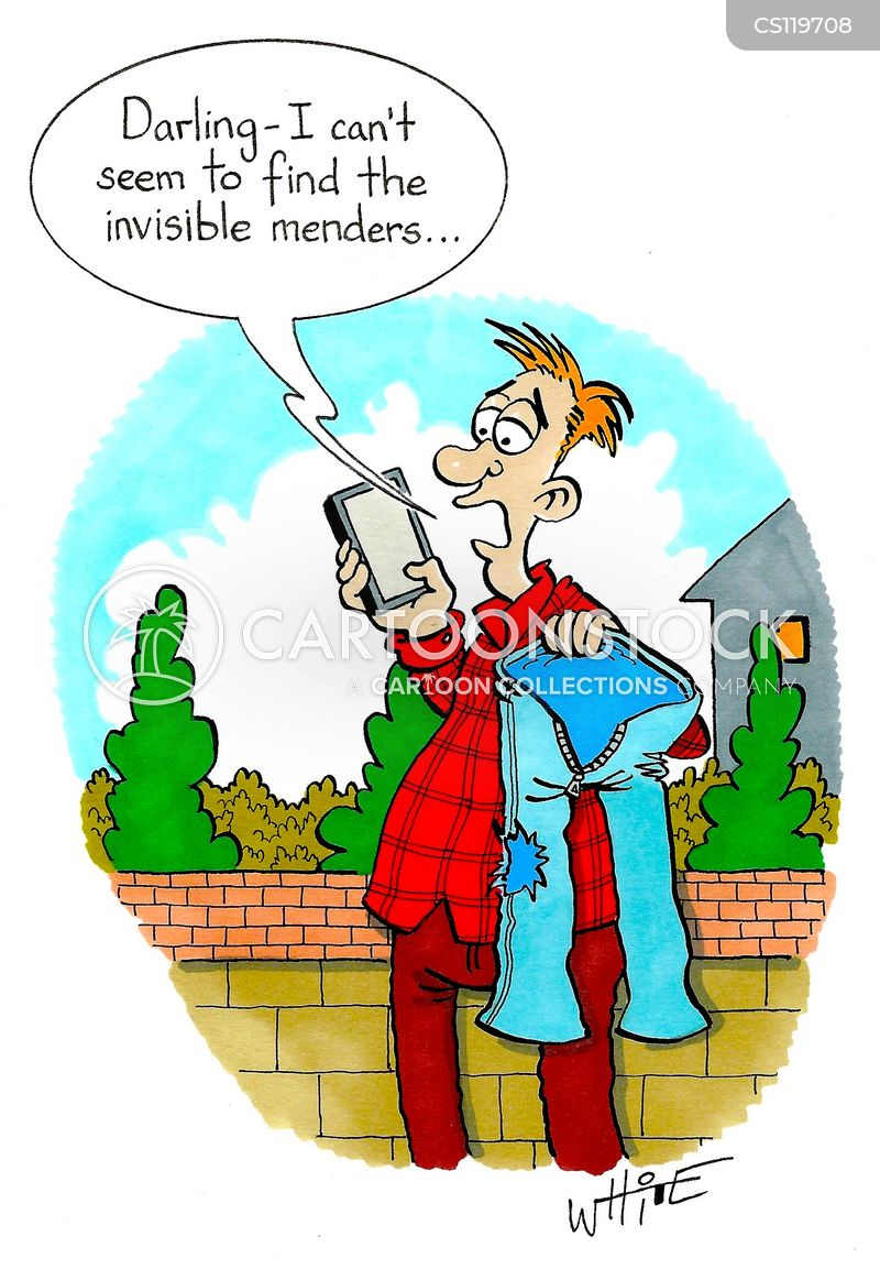invisible mender cartoon