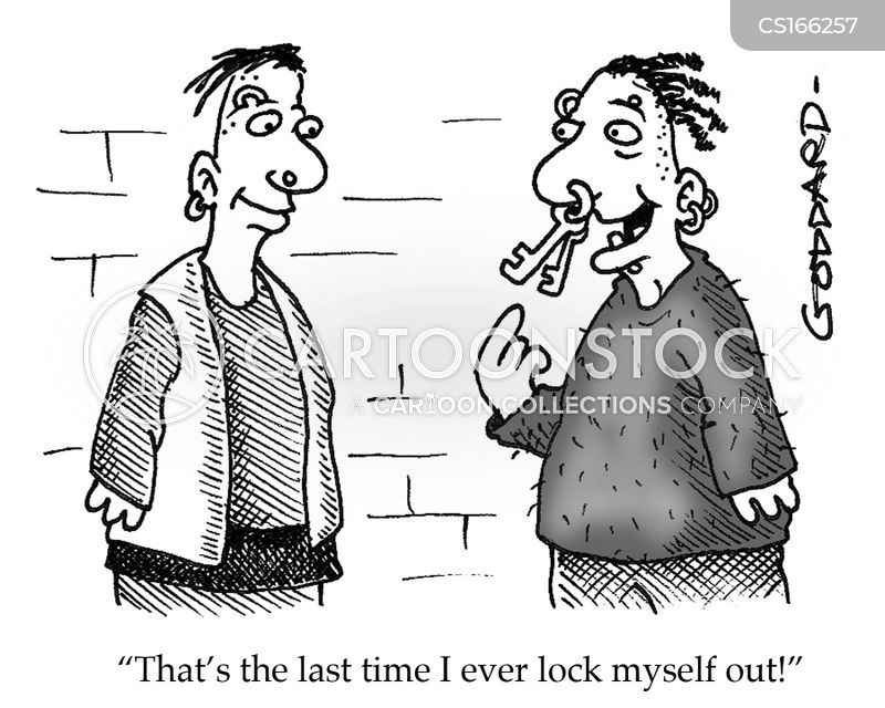 locked out cartoons and comics funny pictures from cartoonstock