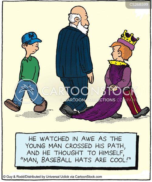 baseball hat cartoon