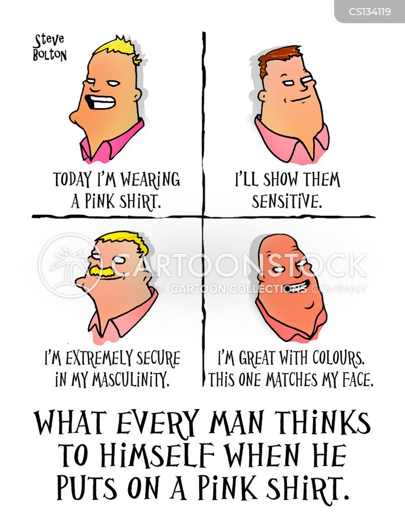 Pink Shirt Cartoons and Comics - funny pictures from CartoonStock