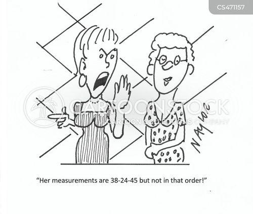 dress-size cartoon