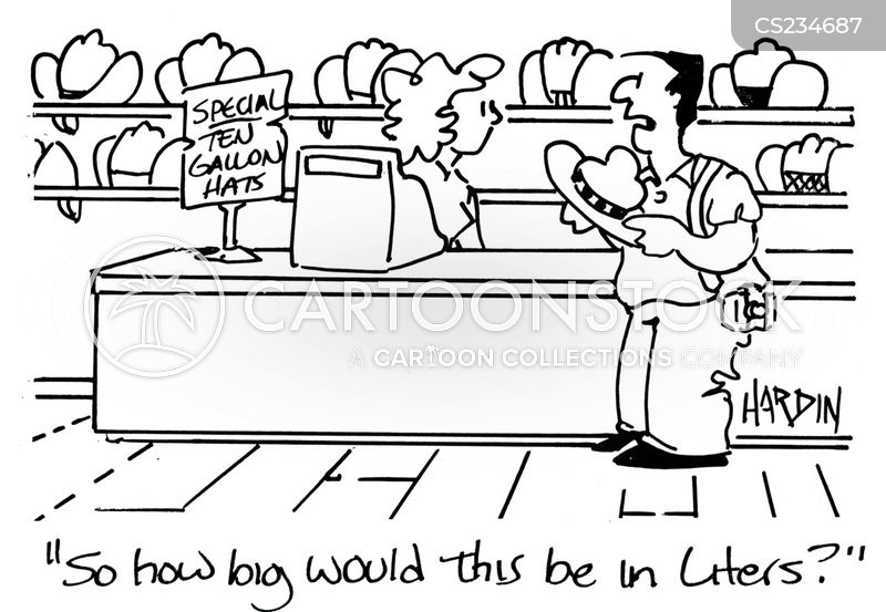 litres cartoon