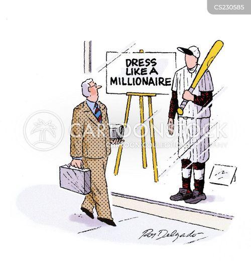 sports stars cartoon