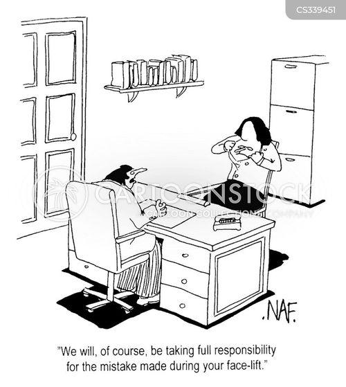 face-lift cartoon