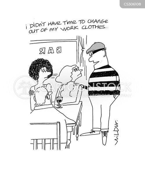 work clothes cartoon