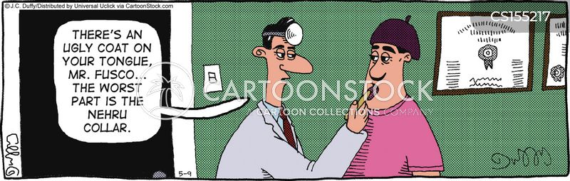nehru collars cartoon