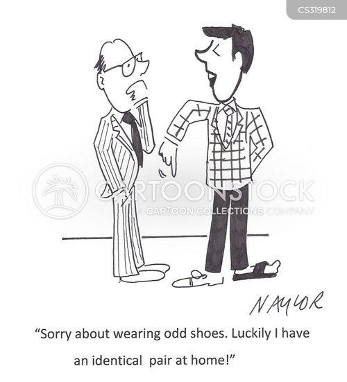 pair of shoes cartoon