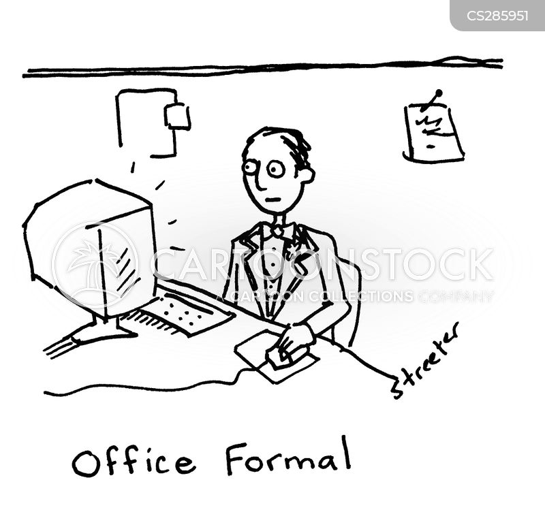 office clothes cartoon