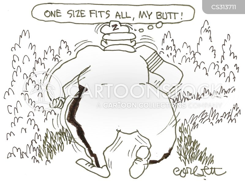 one size fits all cartoon