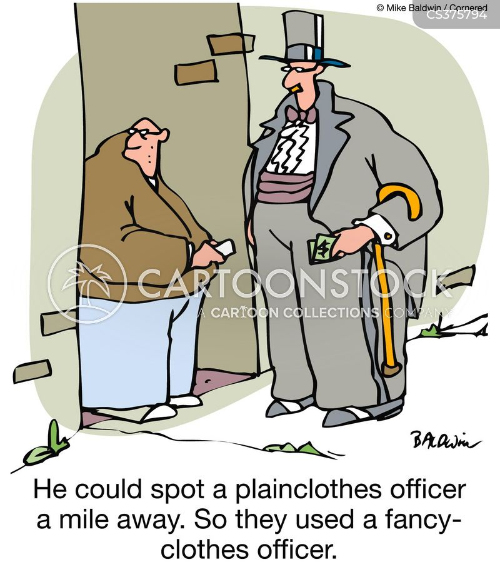 plainclothes officer cartoon