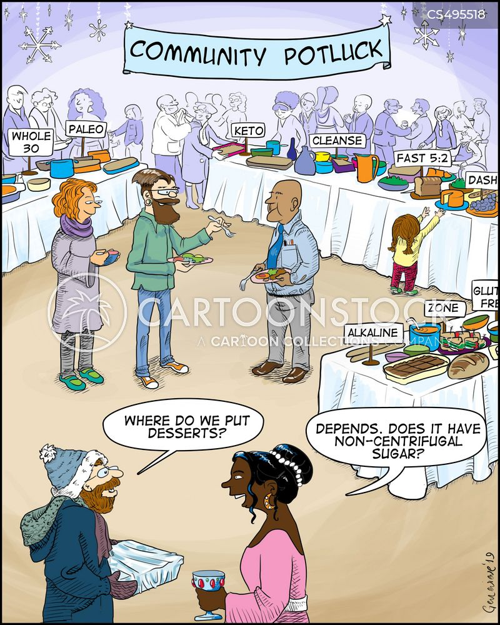 potluck cartoon