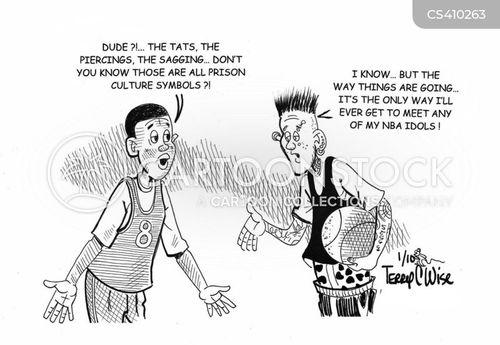 sports star cartoon