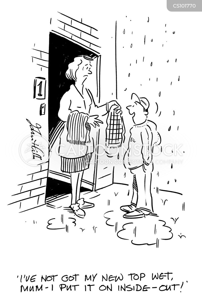 getting wet cartoon