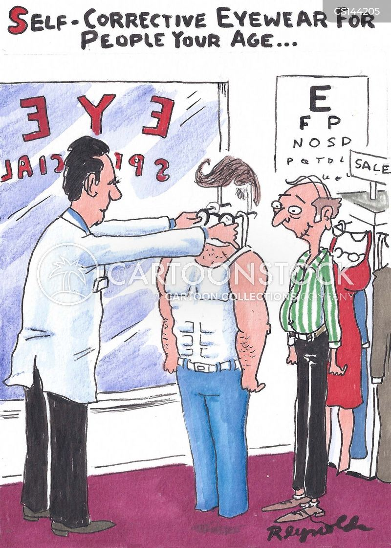 visual impairments cartoon