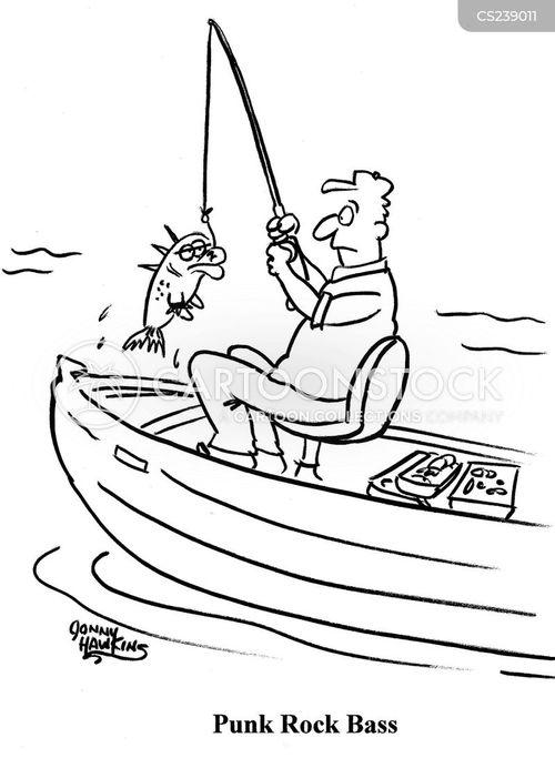 bass fishing cartoon