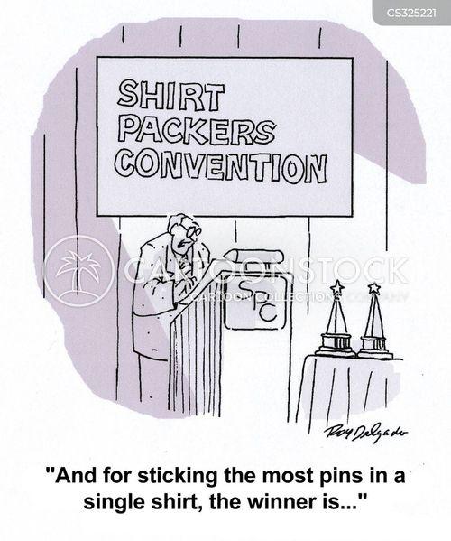 pinning cartoon