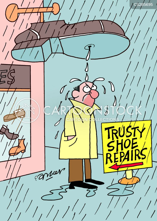 wet feet cartoon