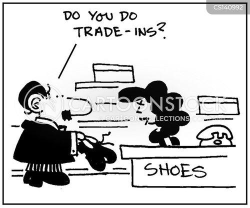 trade-in cartoon