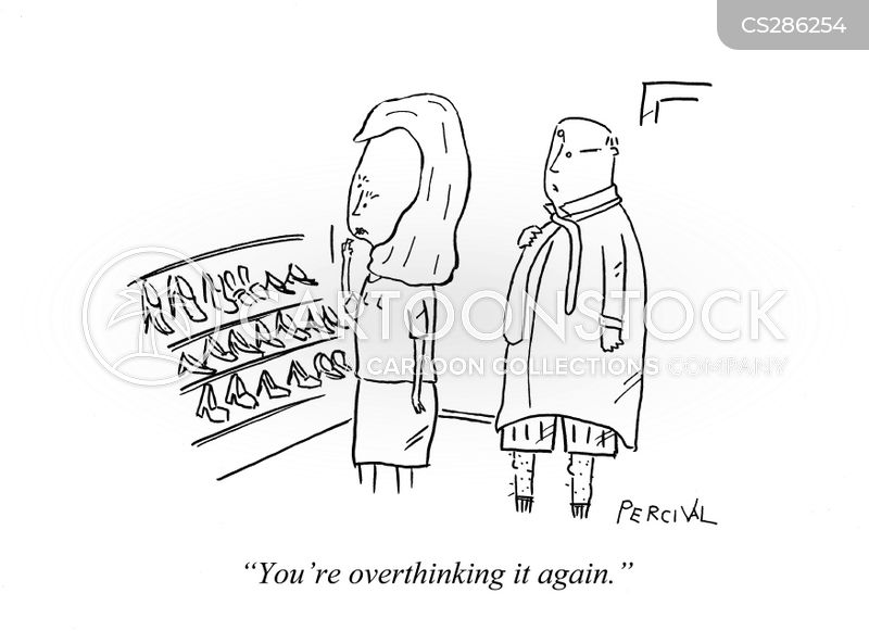 over-thinks cartoon