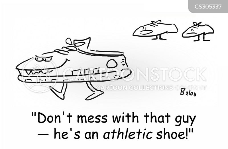 athletic shoes cartoon