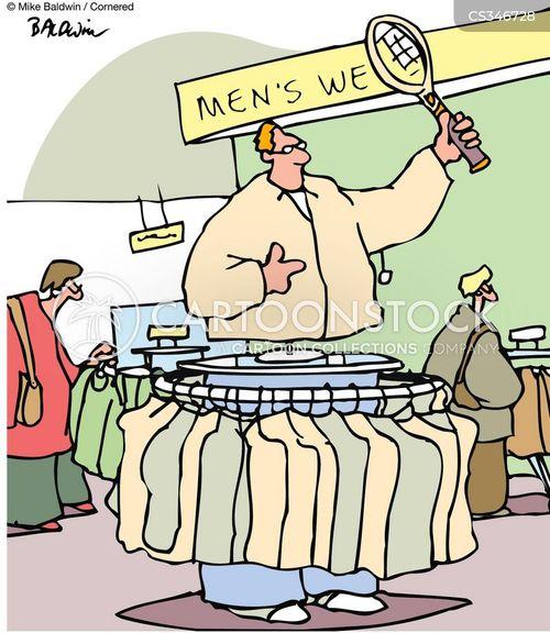 male shoppers cartoon