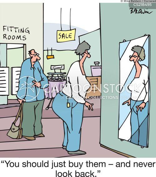 dressing rooms cartoon