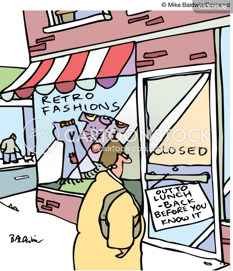 Funny Out to Lunch Sign Out to Lunch Sign Cartoon 1 of