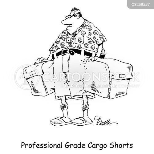 cargo shorts cartoon