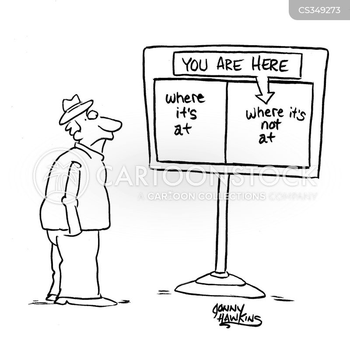 in crowd cartoon