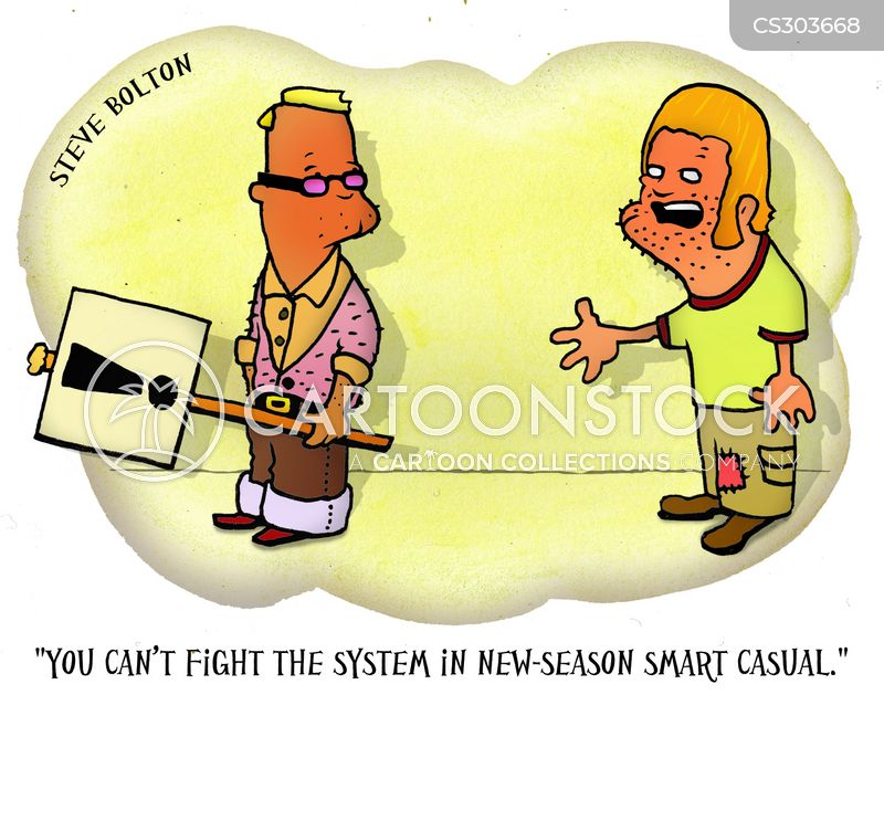 fighting the system cartoon