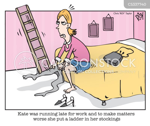 running late for work cartoon