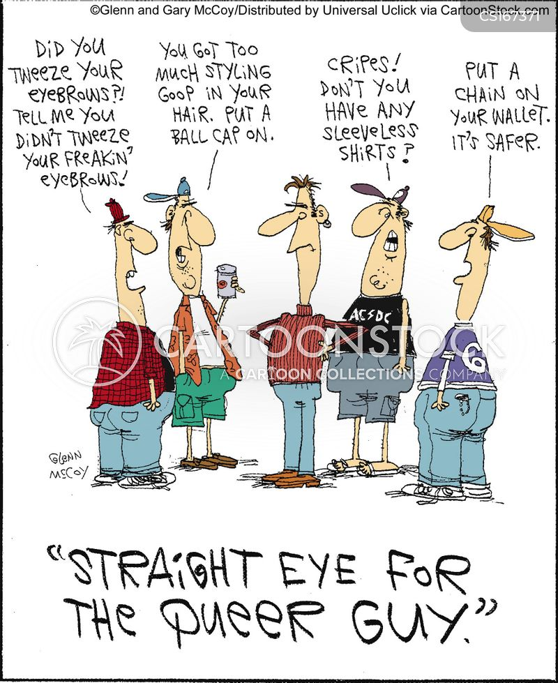Gay men cartoon