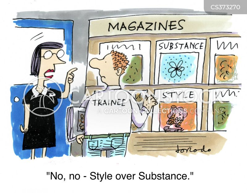 fashion magazines cartoon