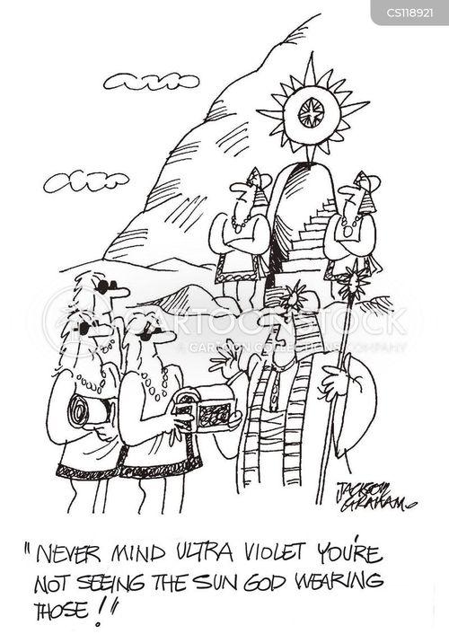 ancient god cartoon