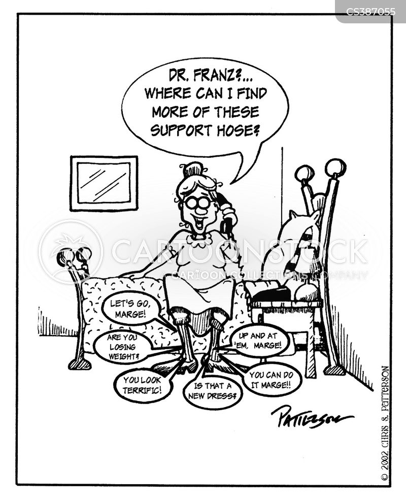 63fd8b2238 Support Stockings Cartoons and Comics - funny pictures from CartoonStock