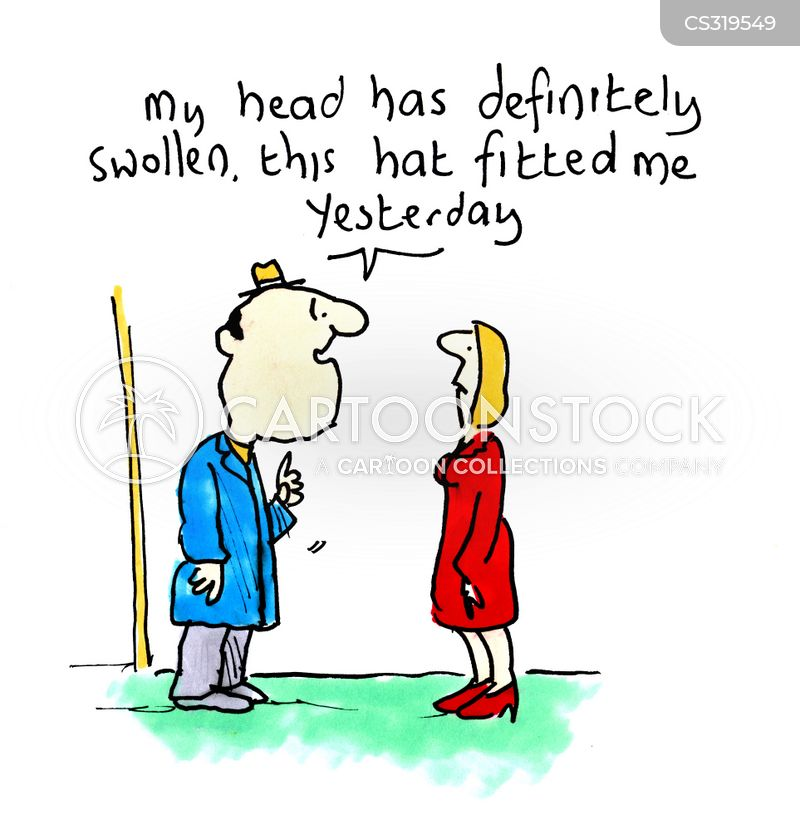swollen cartoon
