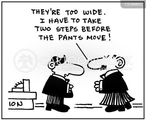 wide trousers cartoon