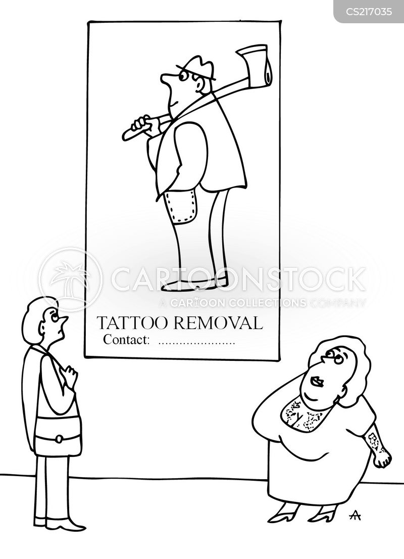 tattoo removal cartoon