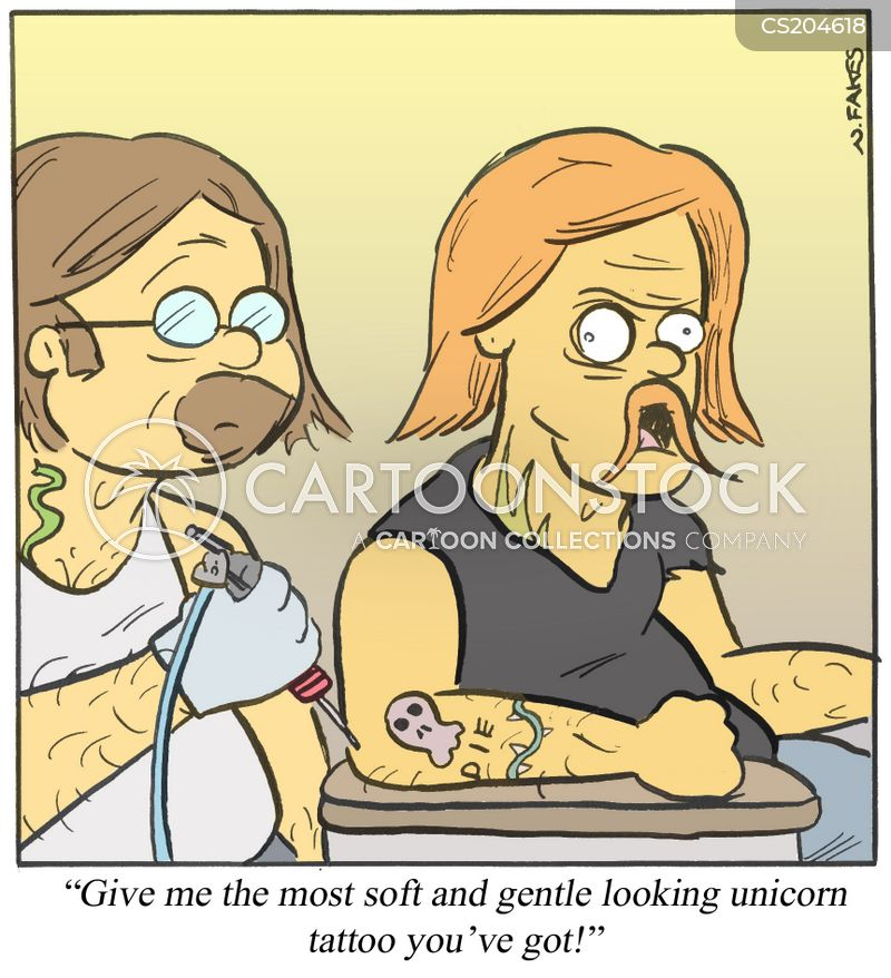 tattooist cartoon
