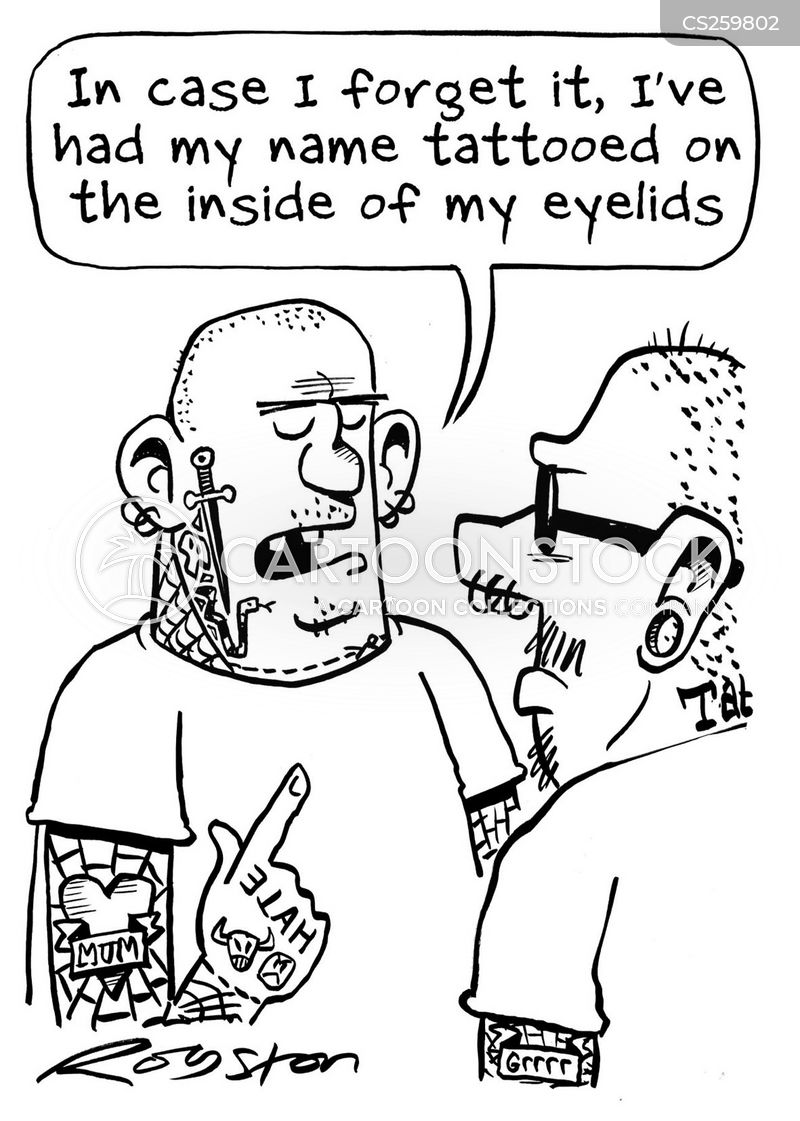 skinhead cartoon